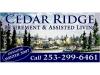 Cedar Ridge sign