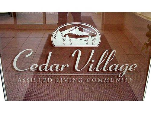 Cedar Village etching