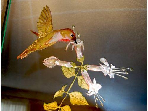 Hummingbird Mirror closeup