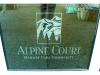 Alpine Court etching